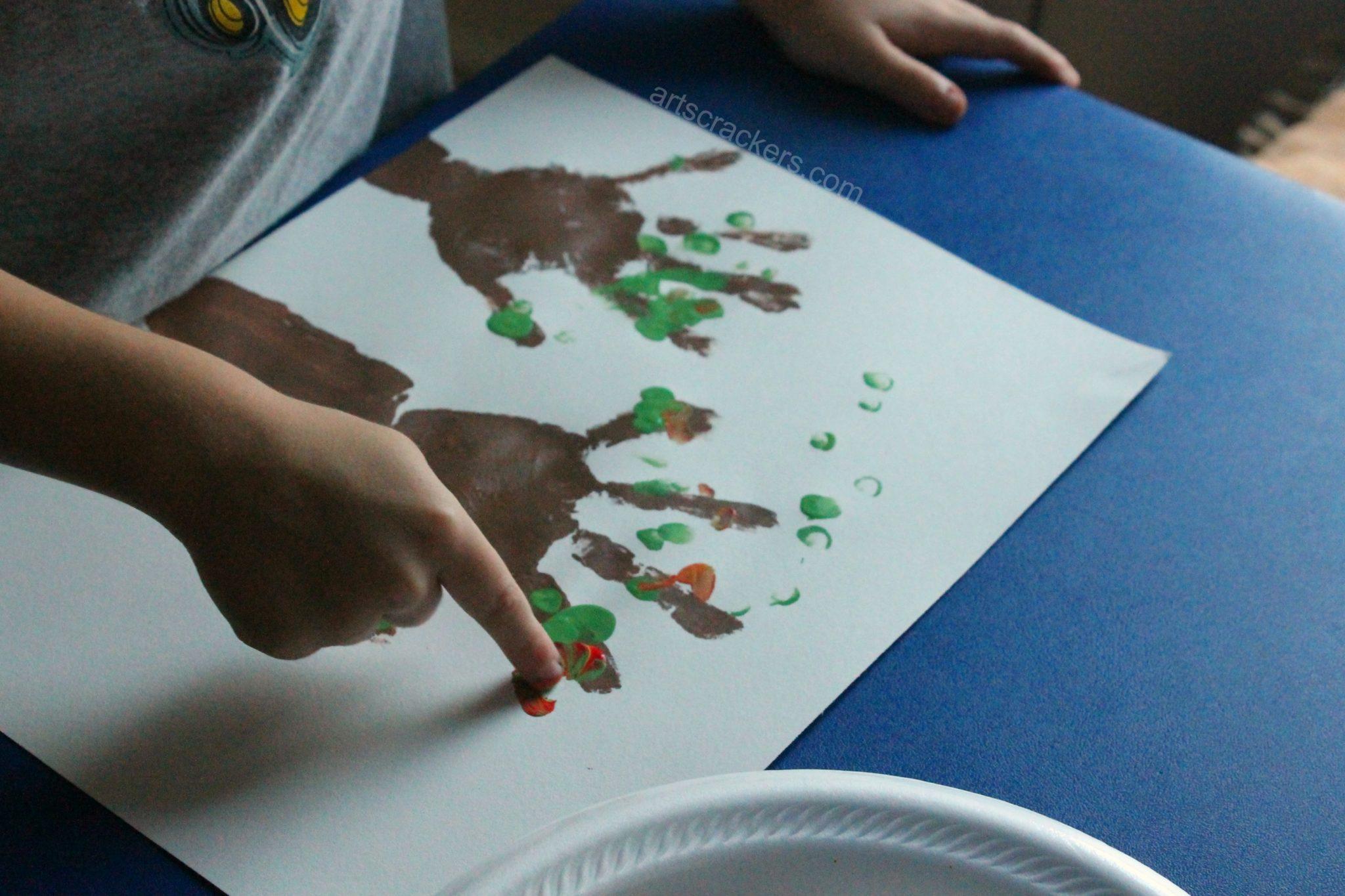 Handprint Trees Fingerprint Leaves