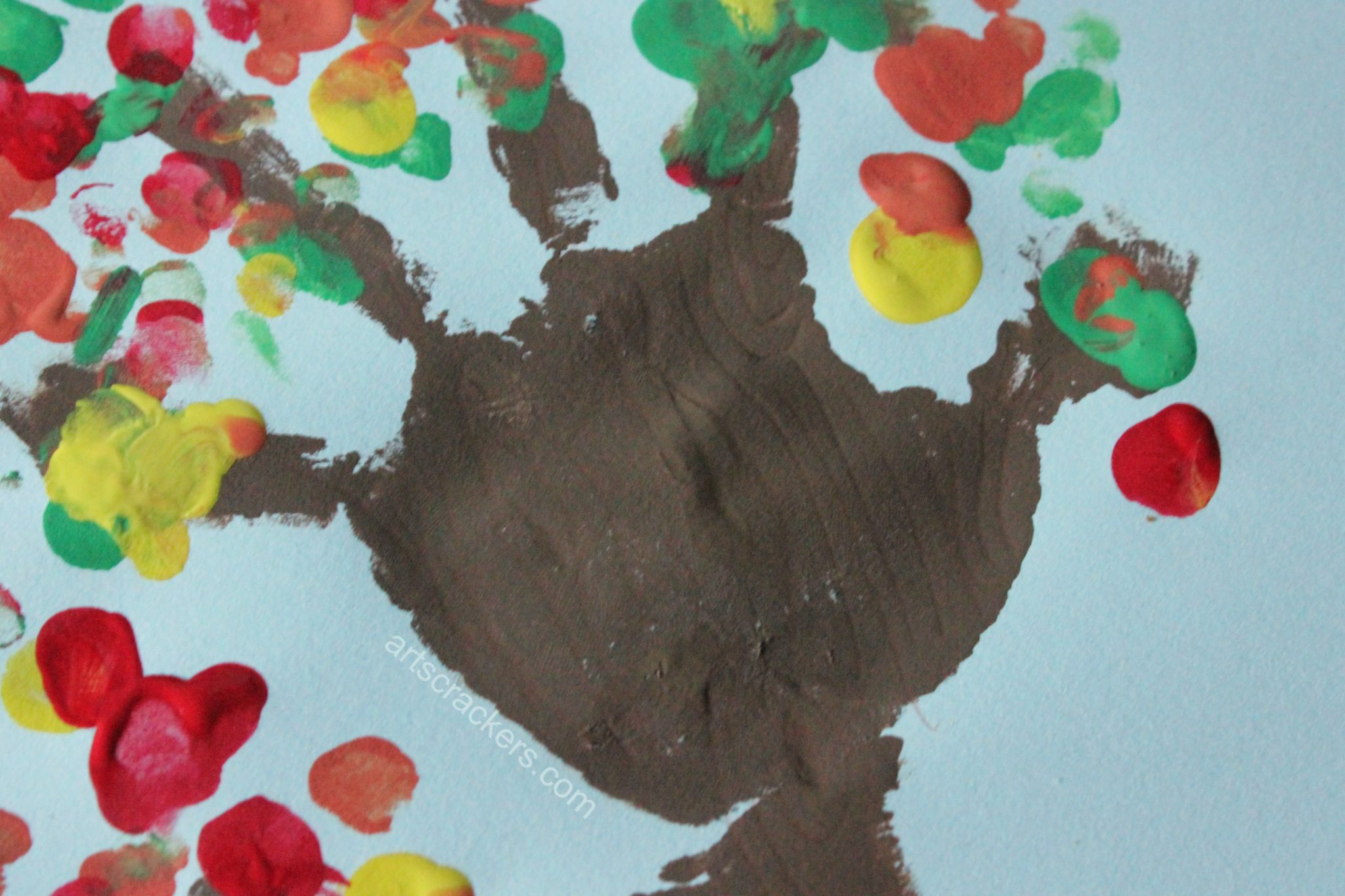 Handprint Trees Texture