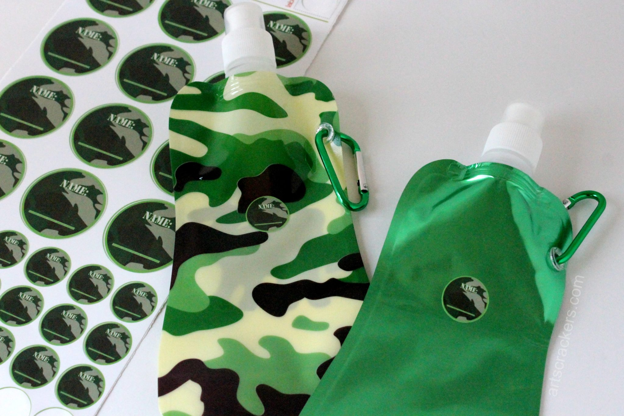 Kidecals Camo Name Stickers