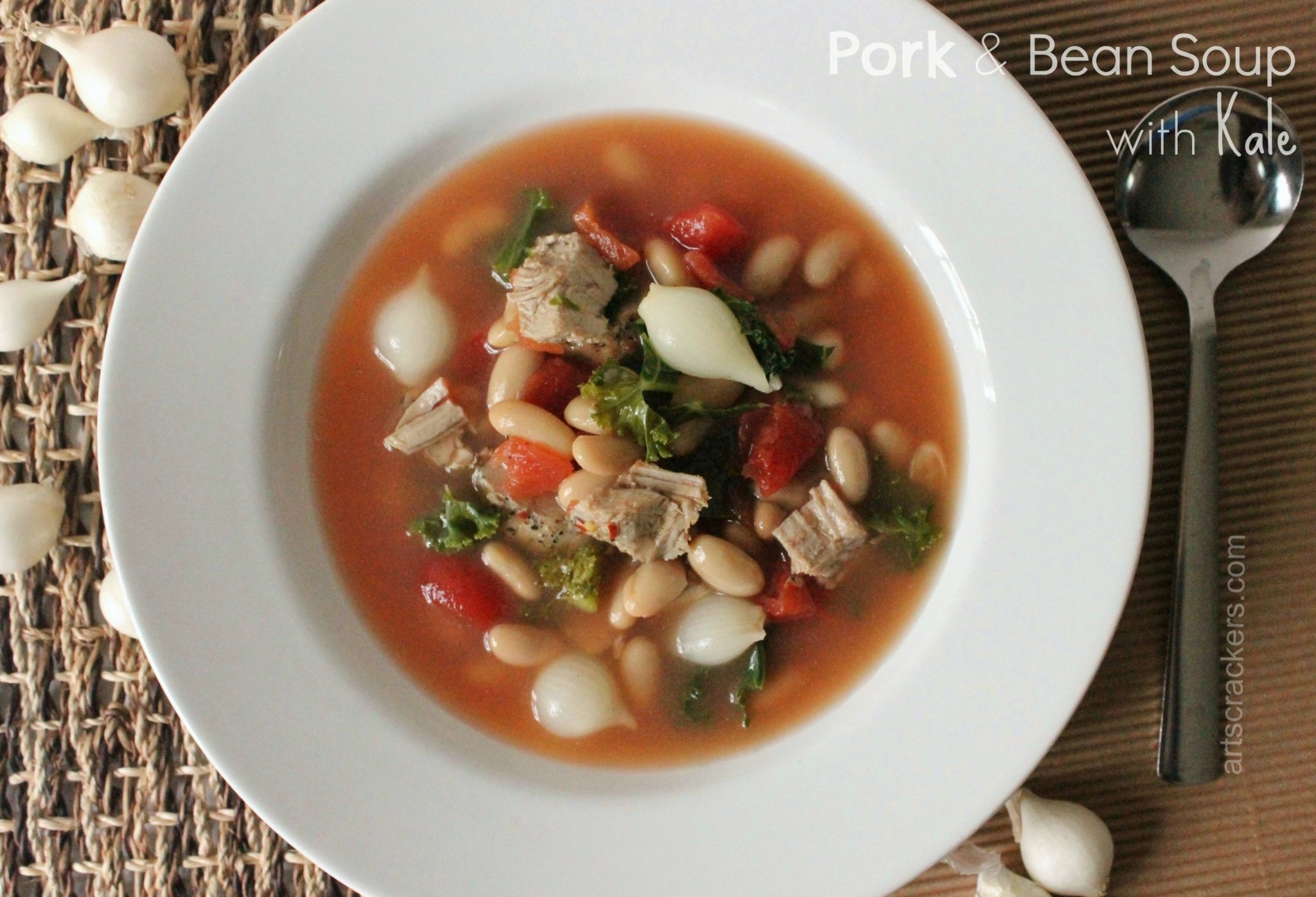 Pork and Bean Soup with Kale