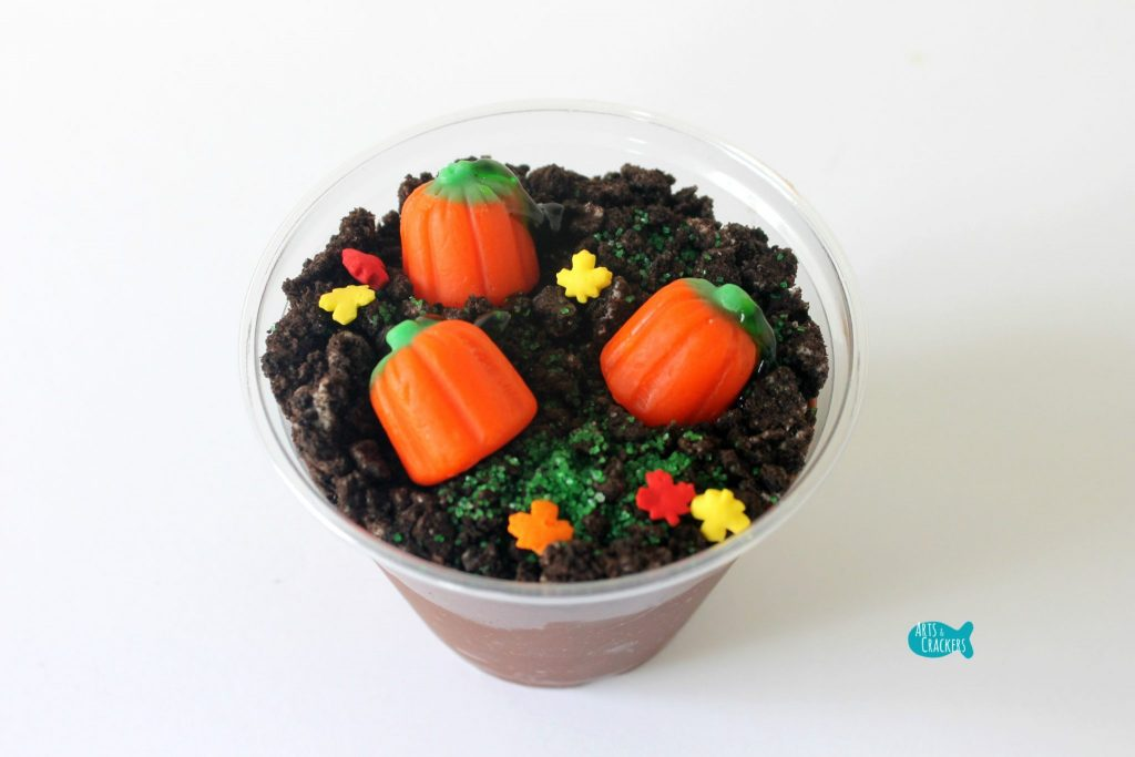 Pumpkin Patch Pudding Cups Decor