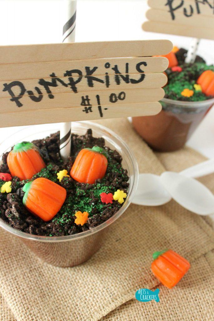 Pumpkin Patch Pudding Cups Halloween