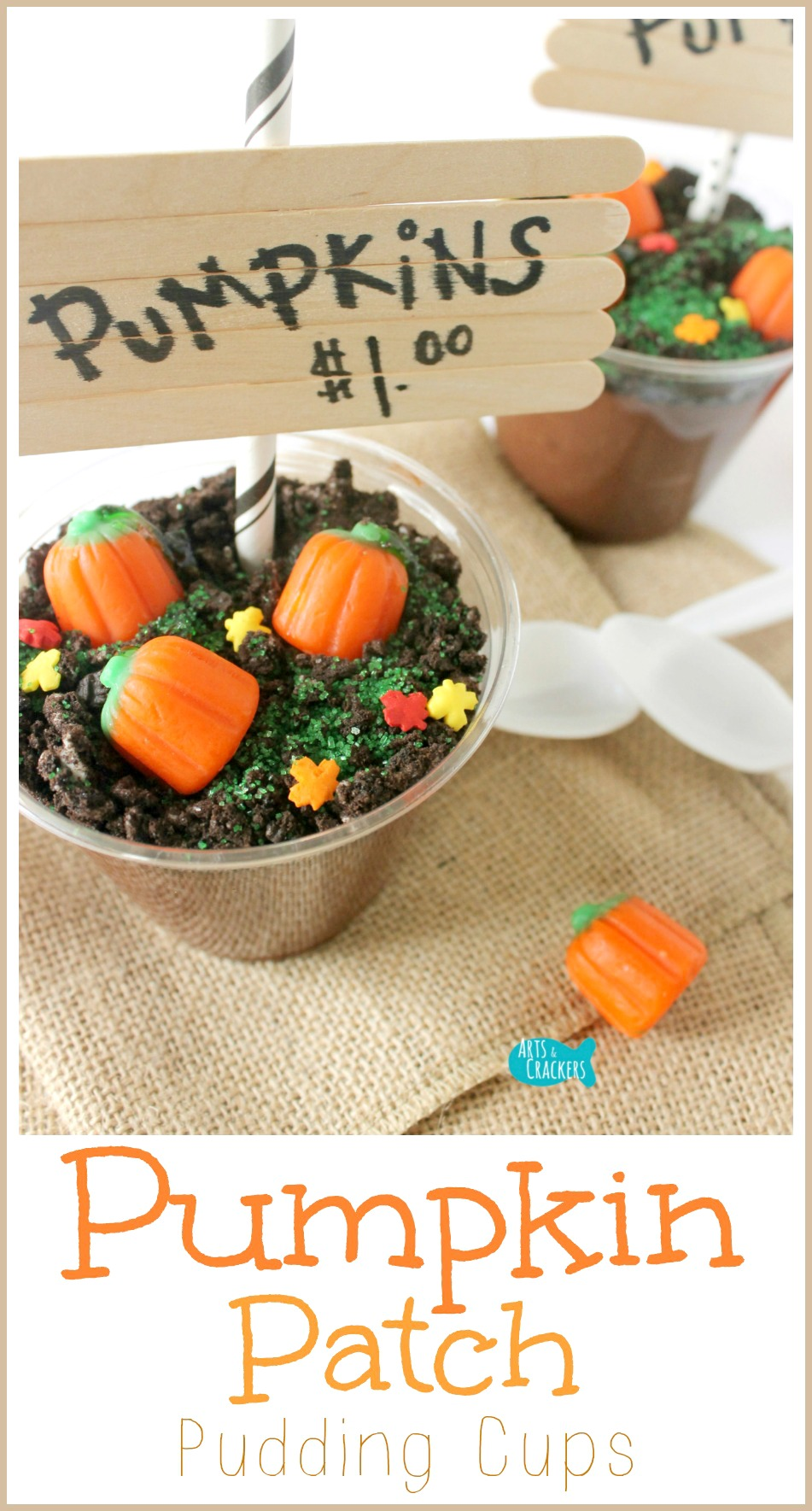 Classroom Snack Ideas ~ The original diy pumpkin patch pudding cups for fall and