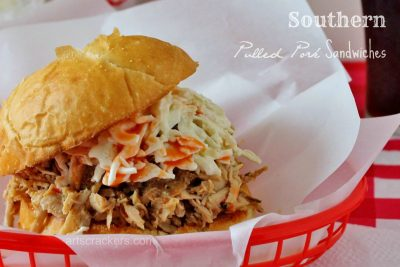 Southern Style Slow Cooker Pulled Pork Sandwiches