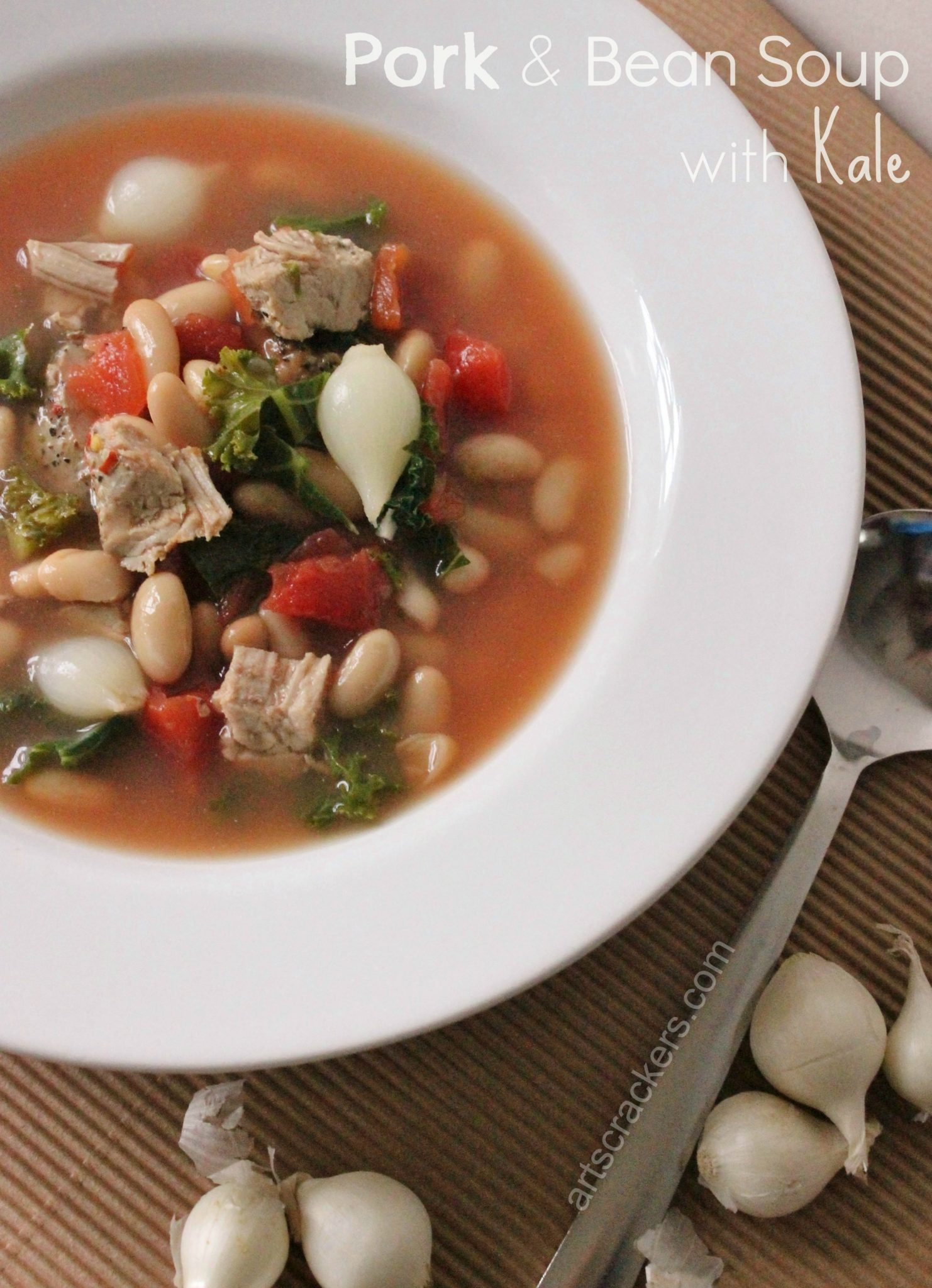 Tasty Pork and Bean Soup with Kale