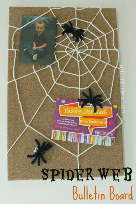 DIY Spider Bulletin Board