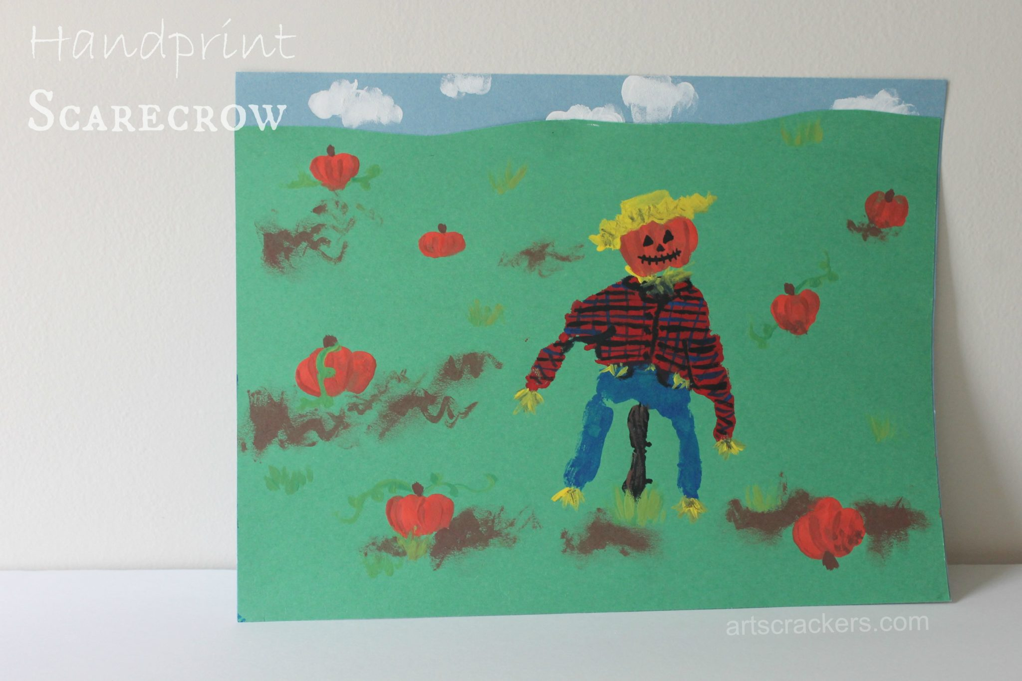 Handprint Scarecrow Craft