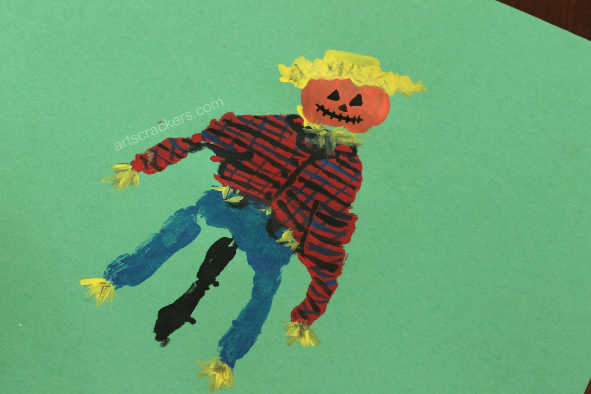 Handprint Scarecrow Face