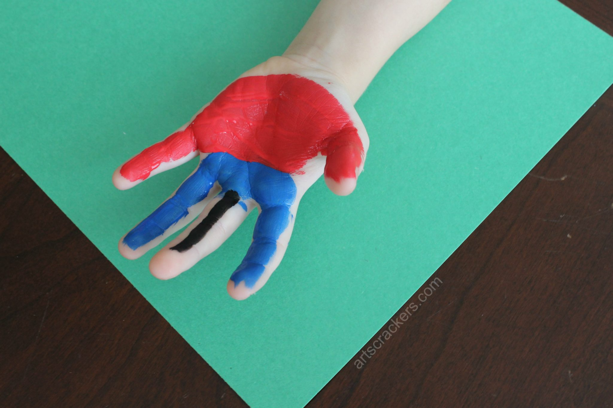 Handprint Scarecrow Painted Palms