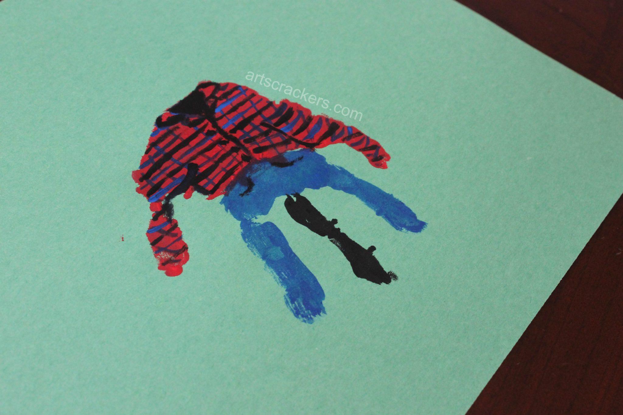 Handprint Scarecrow Plaid Shirt