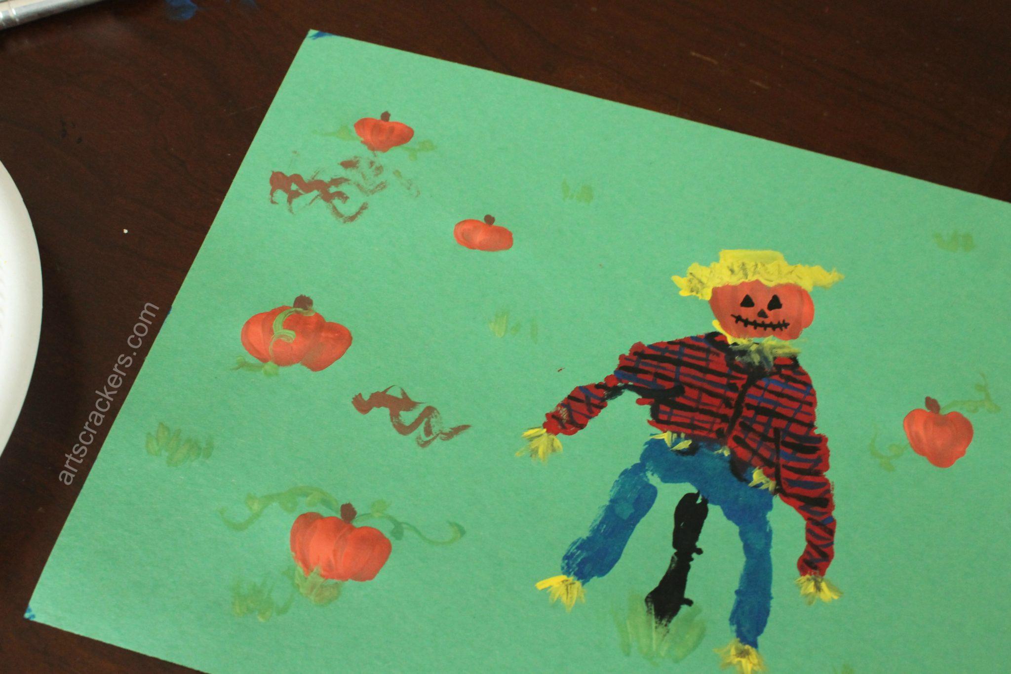 Handprint Scarecrow Pumpkin Patch