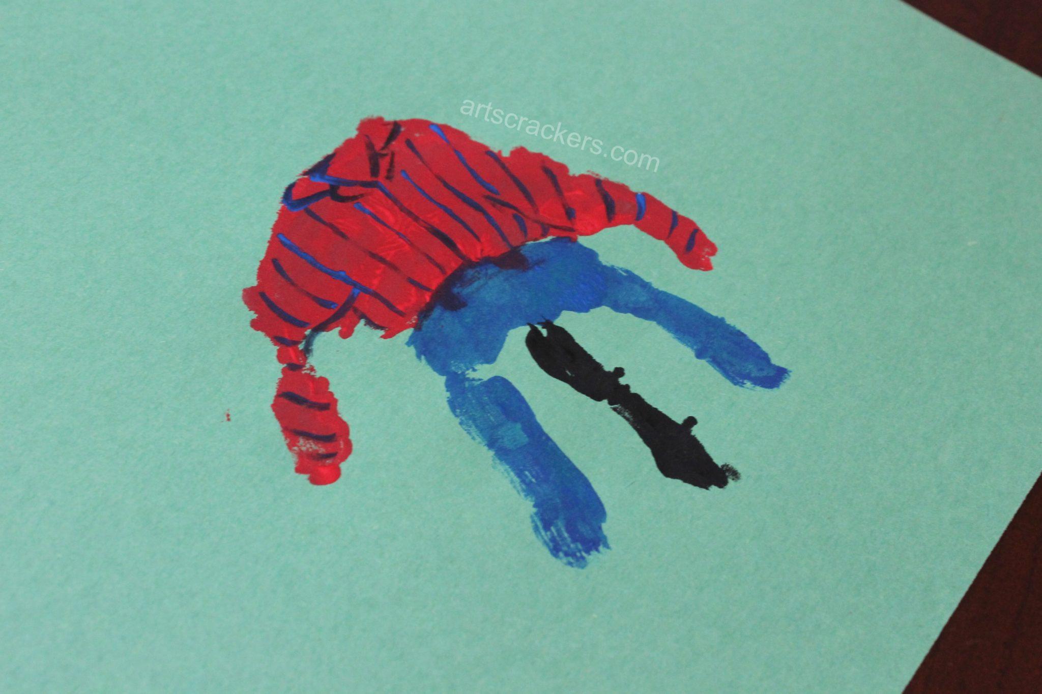 Handprint Scarecrow Striped Shirt