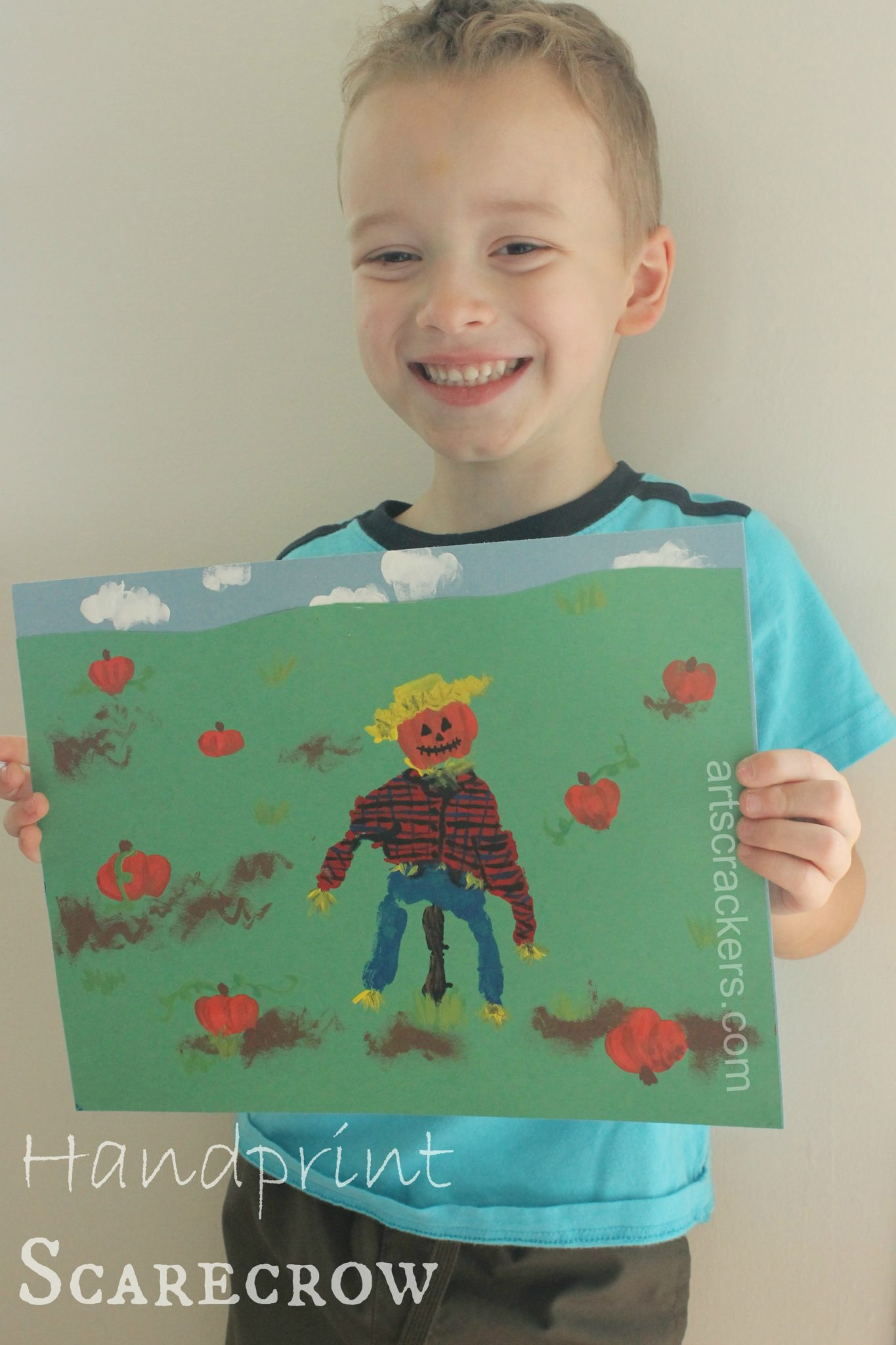 Fall Handprint Scarecrow