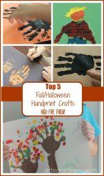 Top 5 Halloween/Fall Handprint Crafts | High Five Friday