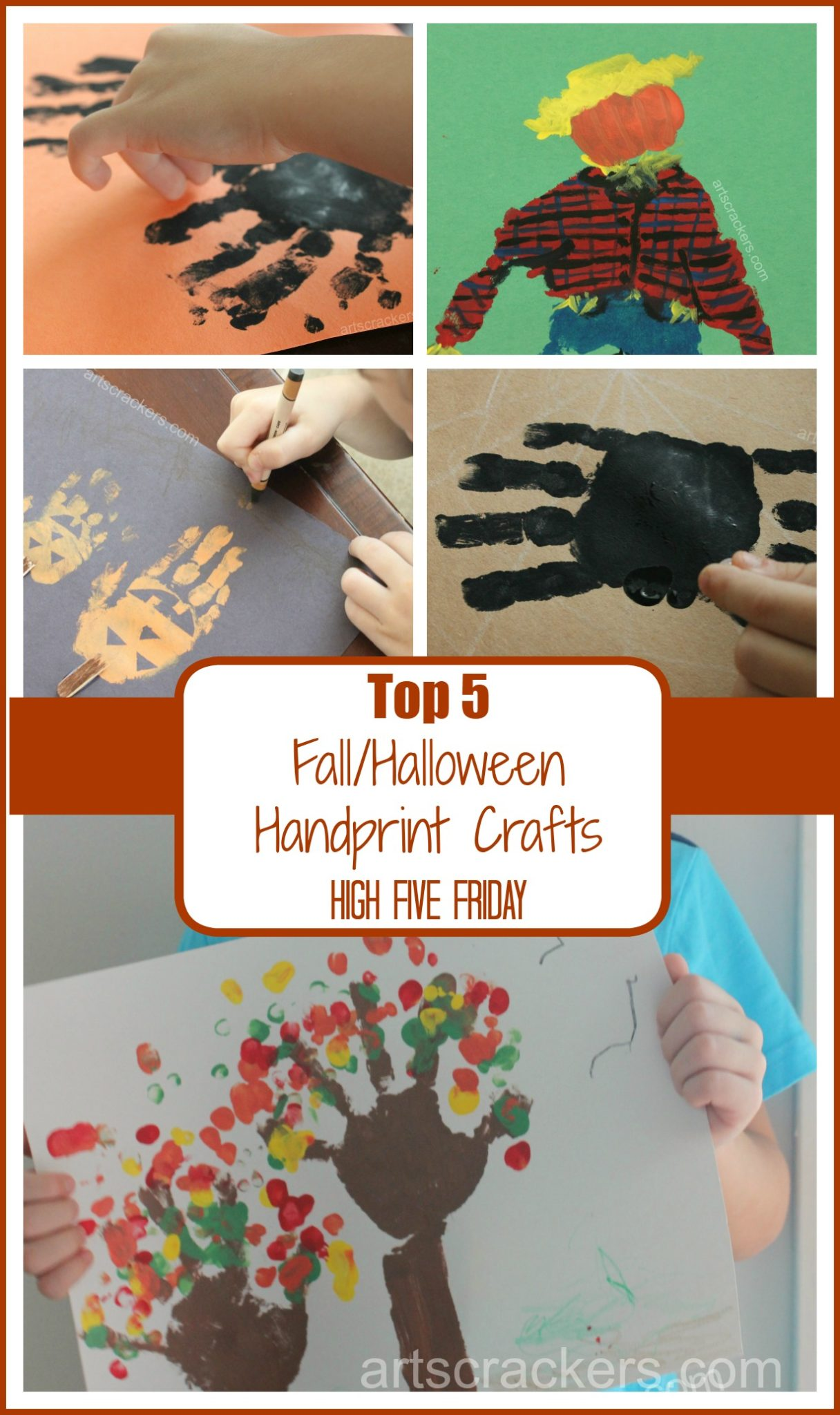 Top 5 Fall Halloween Handprint Crafts
