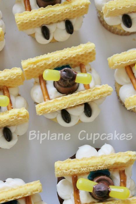 Biplane Airplane Coming Through a Cloud Cupcakes