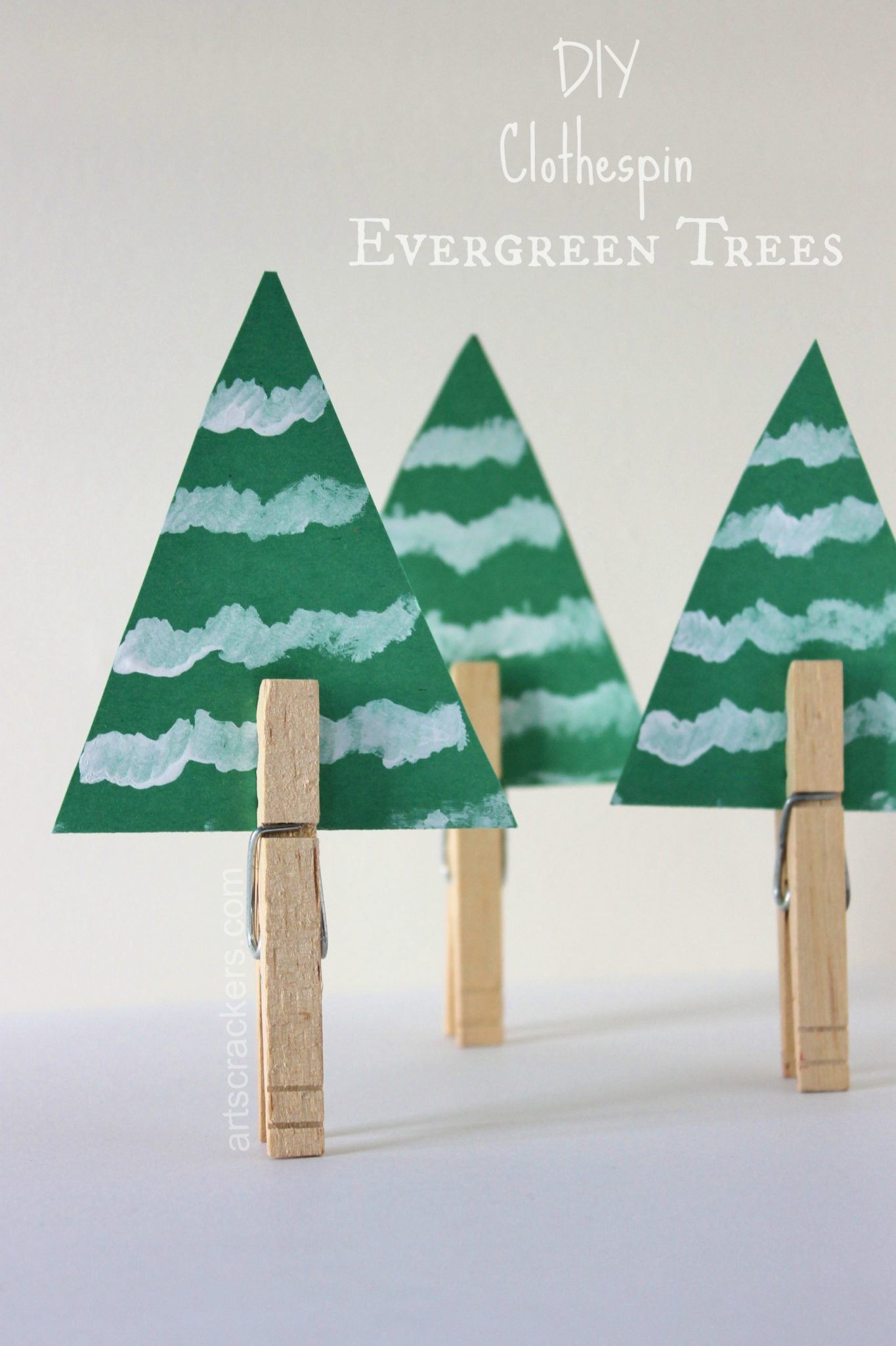 Clothespin Evergreen Tree DIY Winter Decorations