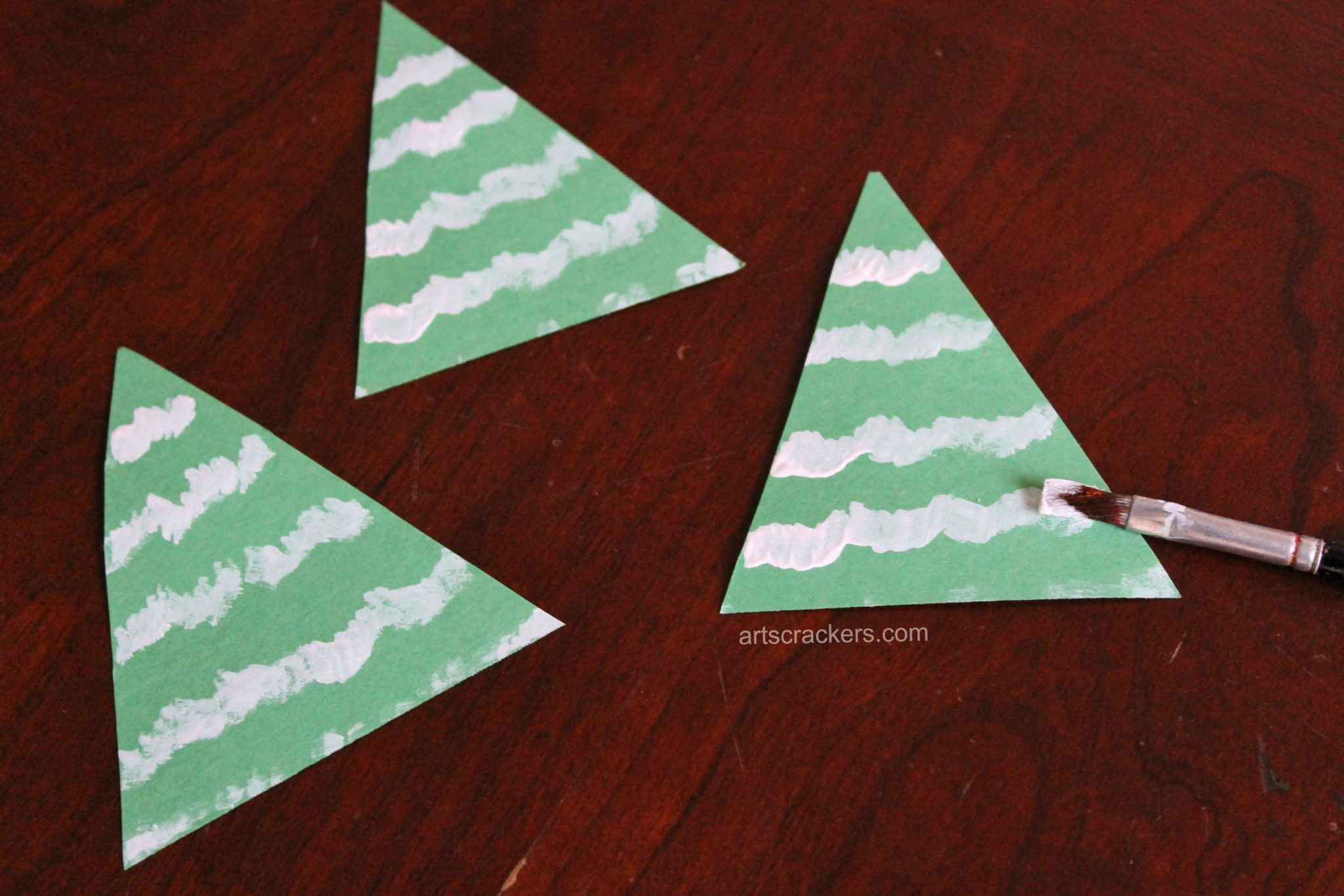 Clothespin Evergreen Trees Painting