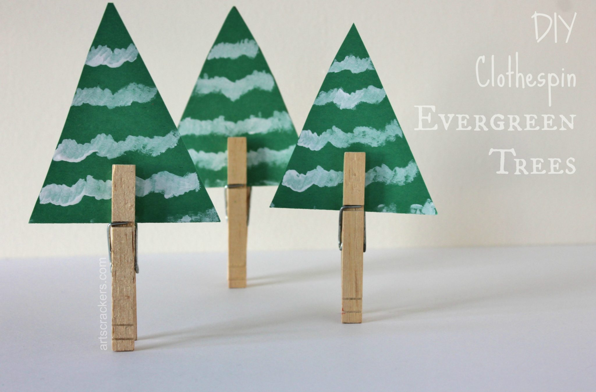 Clothespin Evergreen Trees