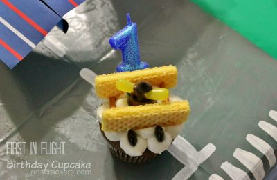 First in Flight Birthday Cupcake