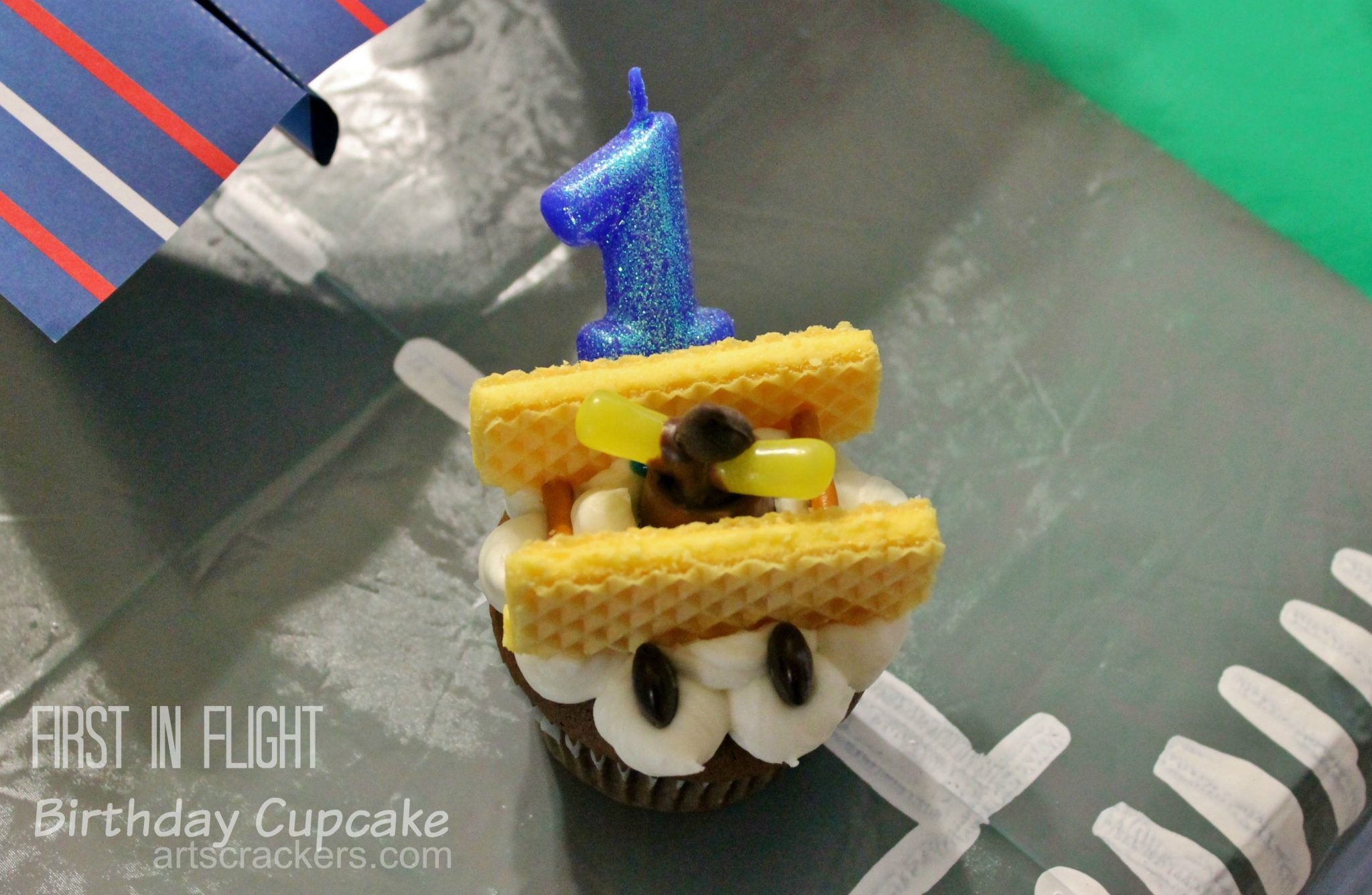 First in Flight Birthday Cupcake