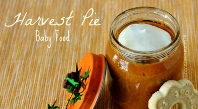 Harvest Pie Baby Food Recipe and Pumpkin Jar Tutorial