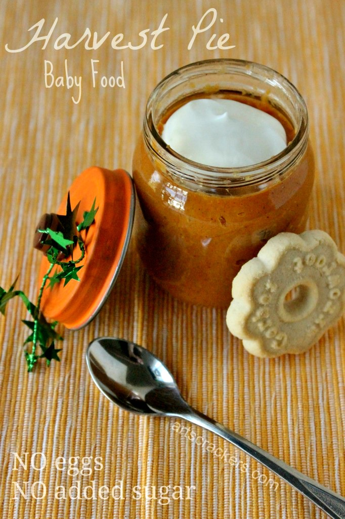 Harvest Pie Baby Food Recipe and Pumpkin Jars