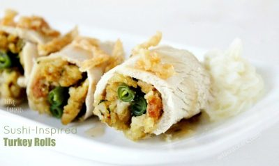 Sushi Inspired Thanksgiving Turkey Rolls