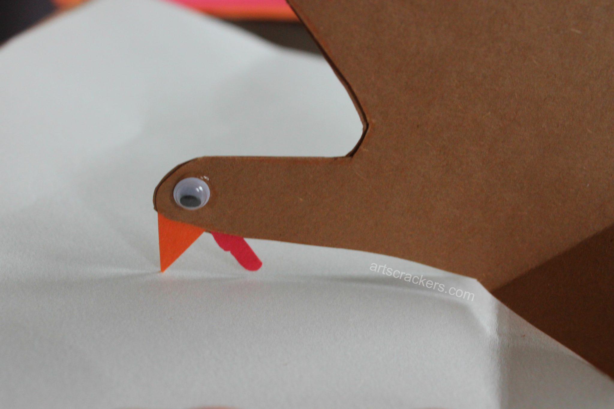 Thankful Turkey Journal Googly Eyes
