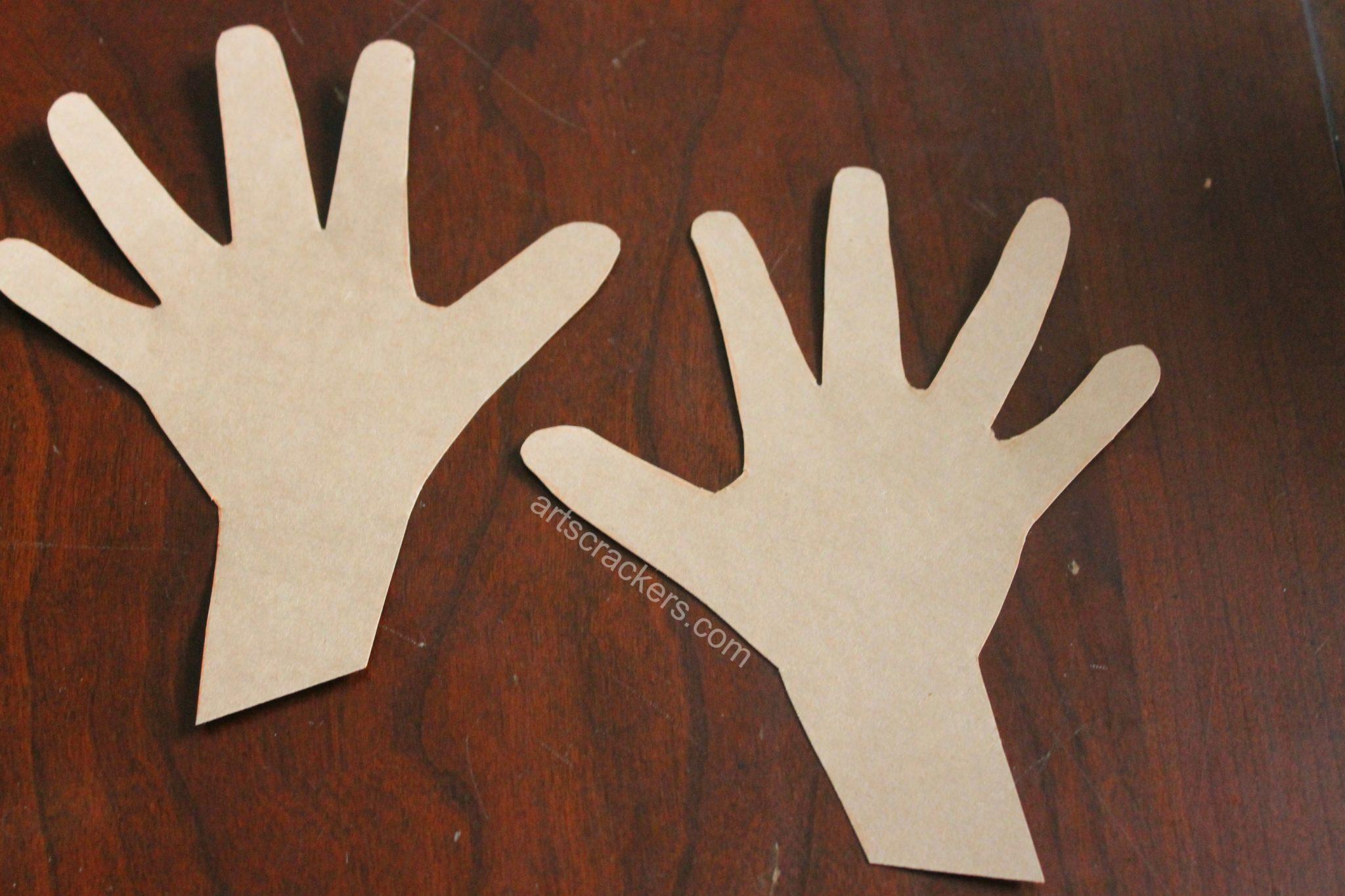 Thankful Turkey Journal Handprints Cut Out