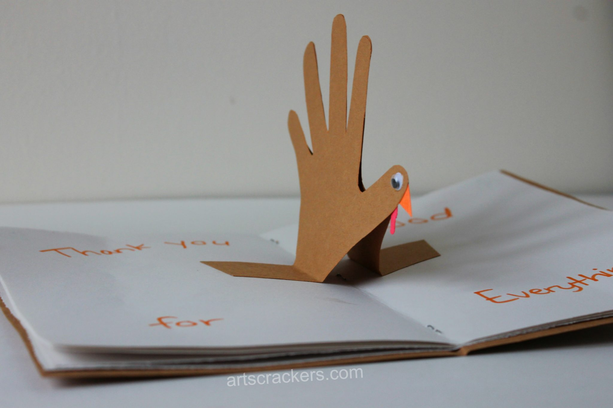 Thankful Turkey Journal Pop Up Handprint Turkey
