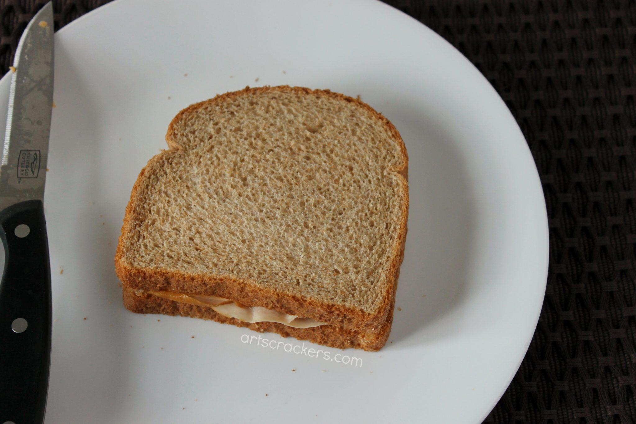 Turkey Shaped Sandwich Bread