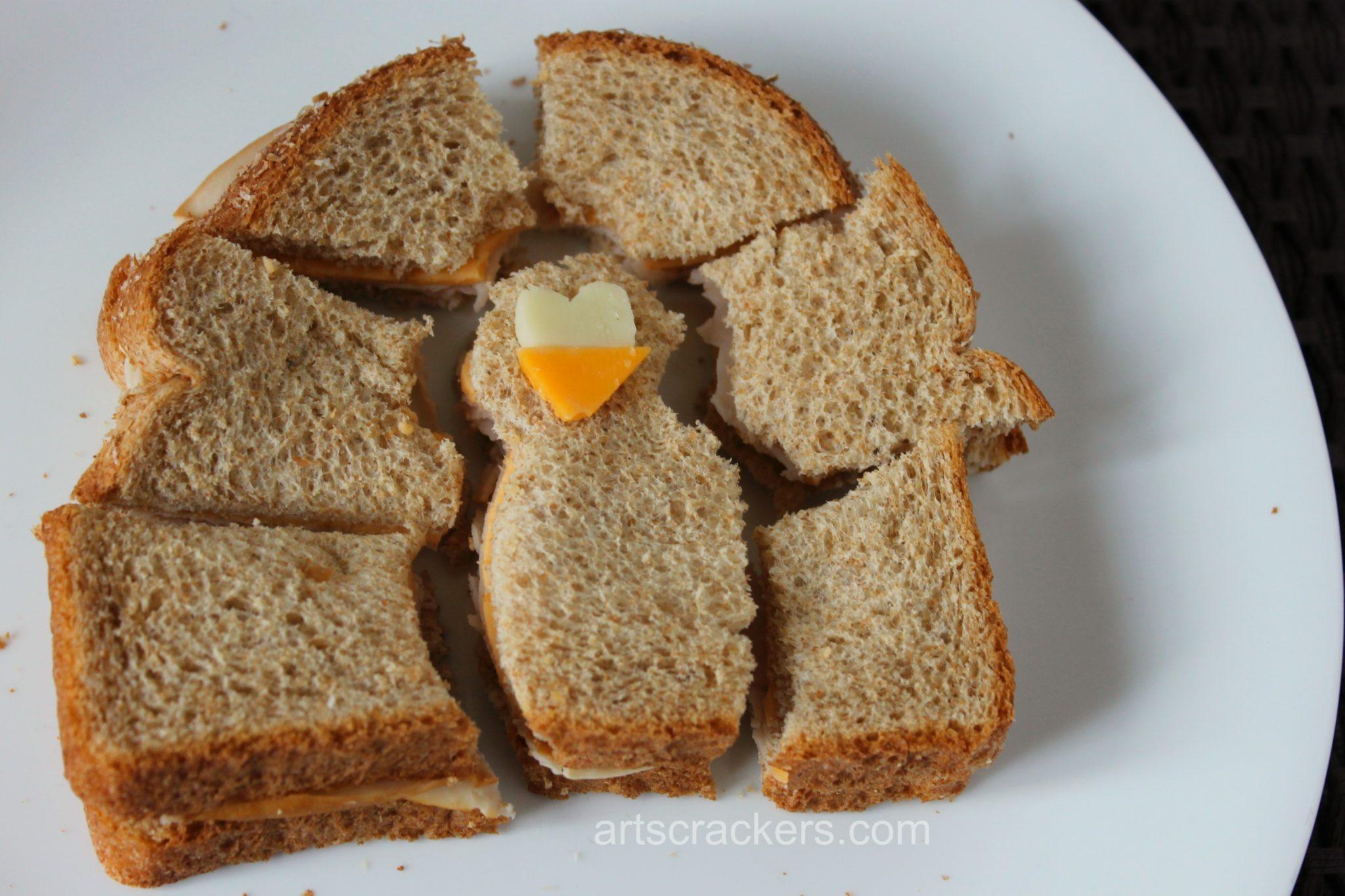 Turkey Shaped Sandwich Face