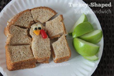 Turkey Shaped Turkey Sandwich