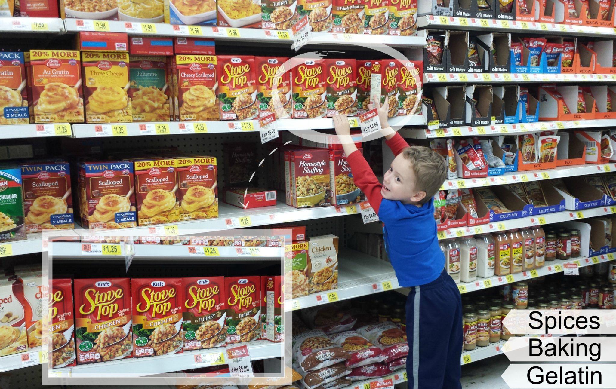 Walmart Stove Top Stuffing Aisle   Arts & Crackers