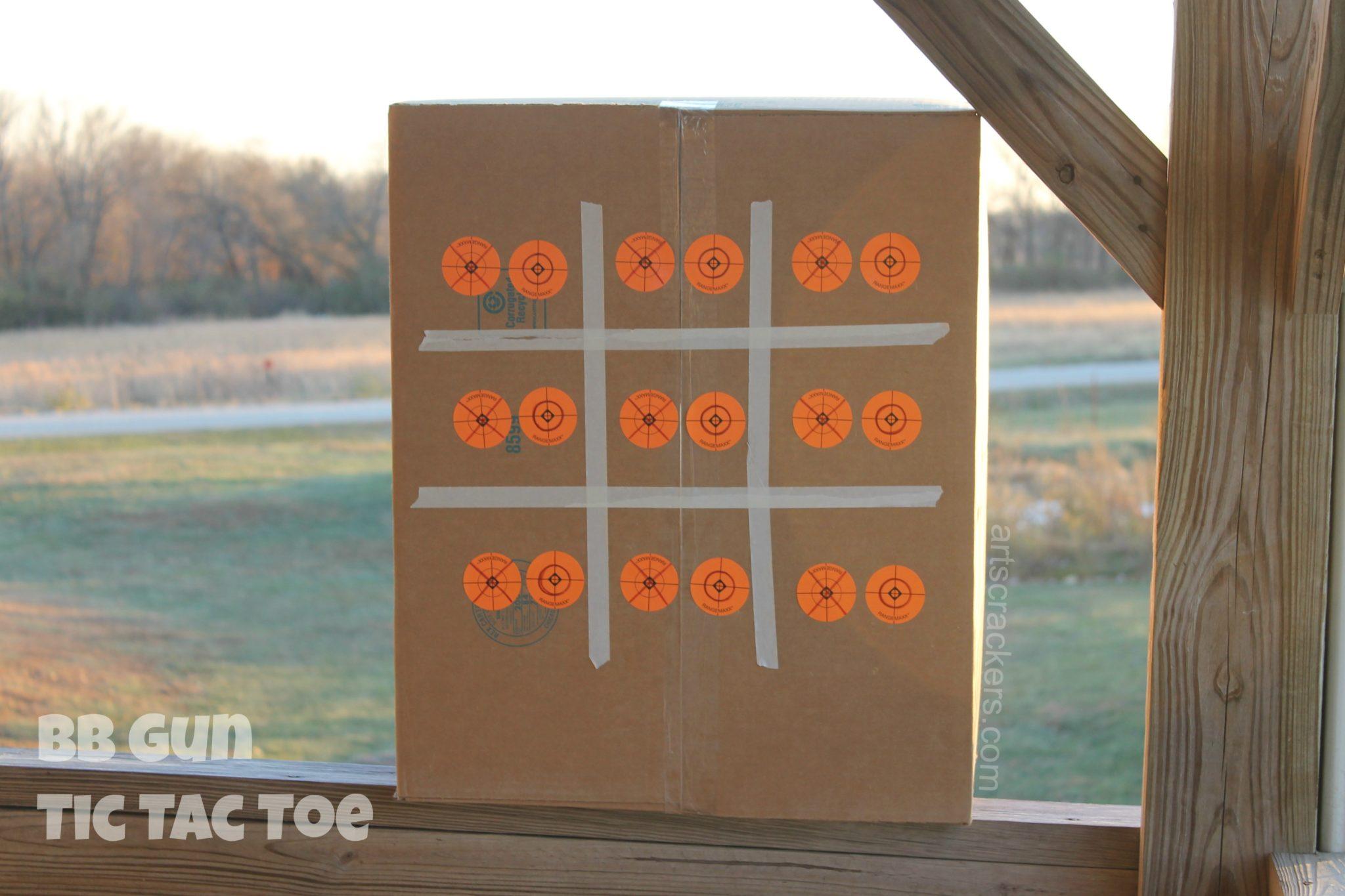BB Gun Tic Tac Toe Target