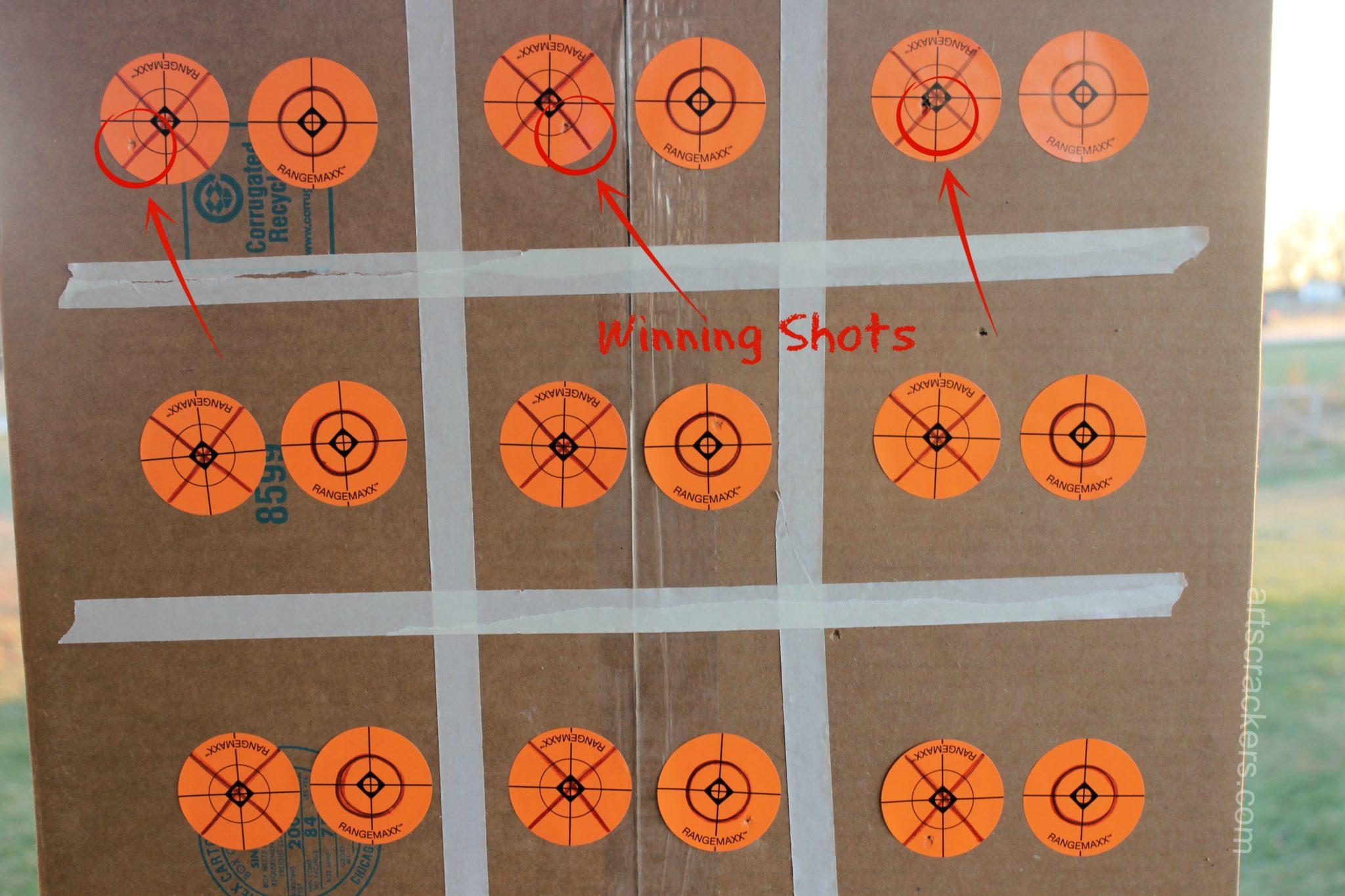 BB Gun Tic Tac Toe Winning Shots