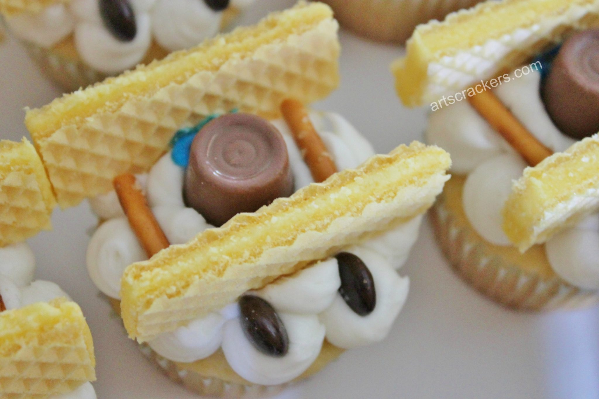 Biplane Cupcakes Chocolate Candy Wheels