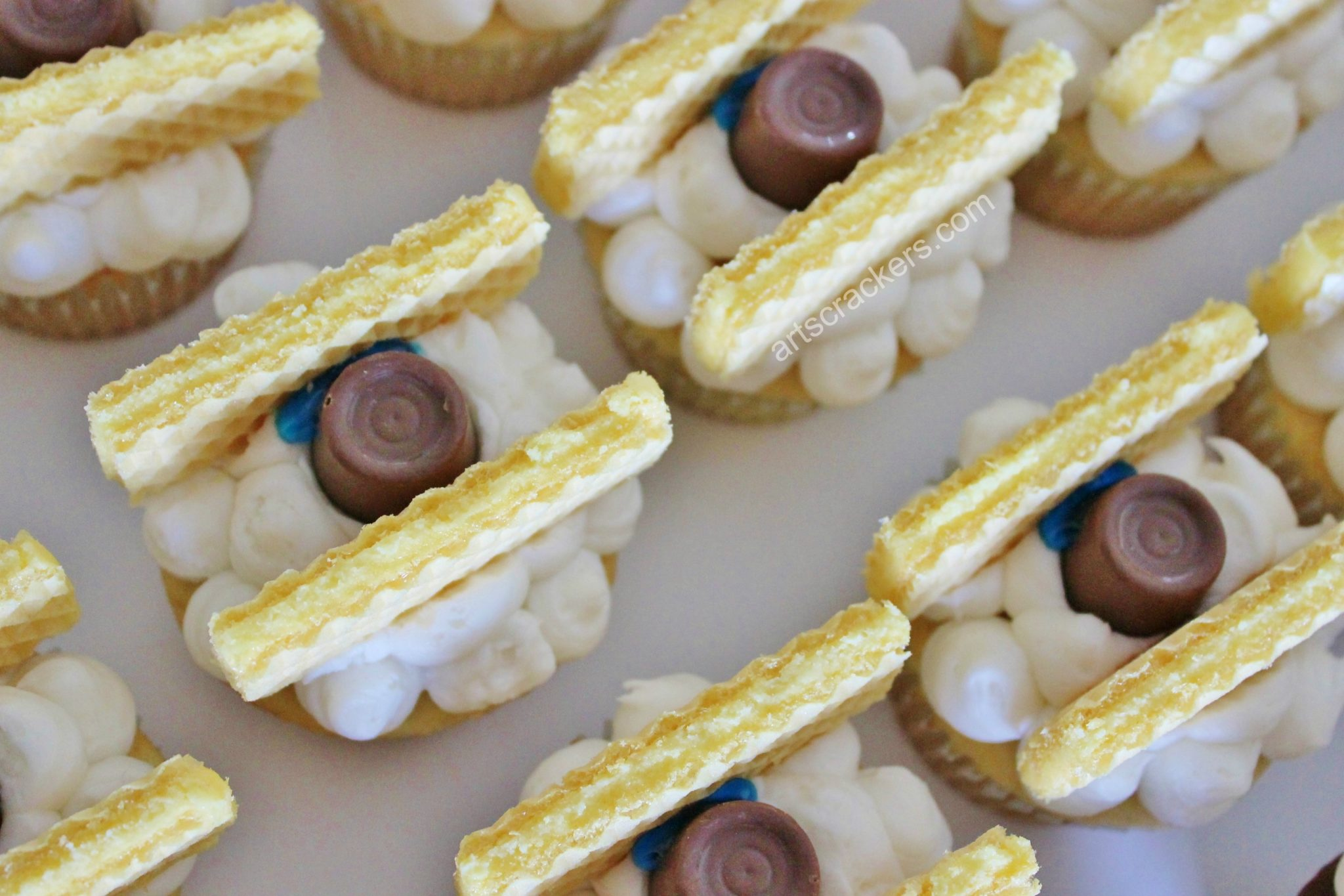 Biplane Cupcakes Wafer Wings