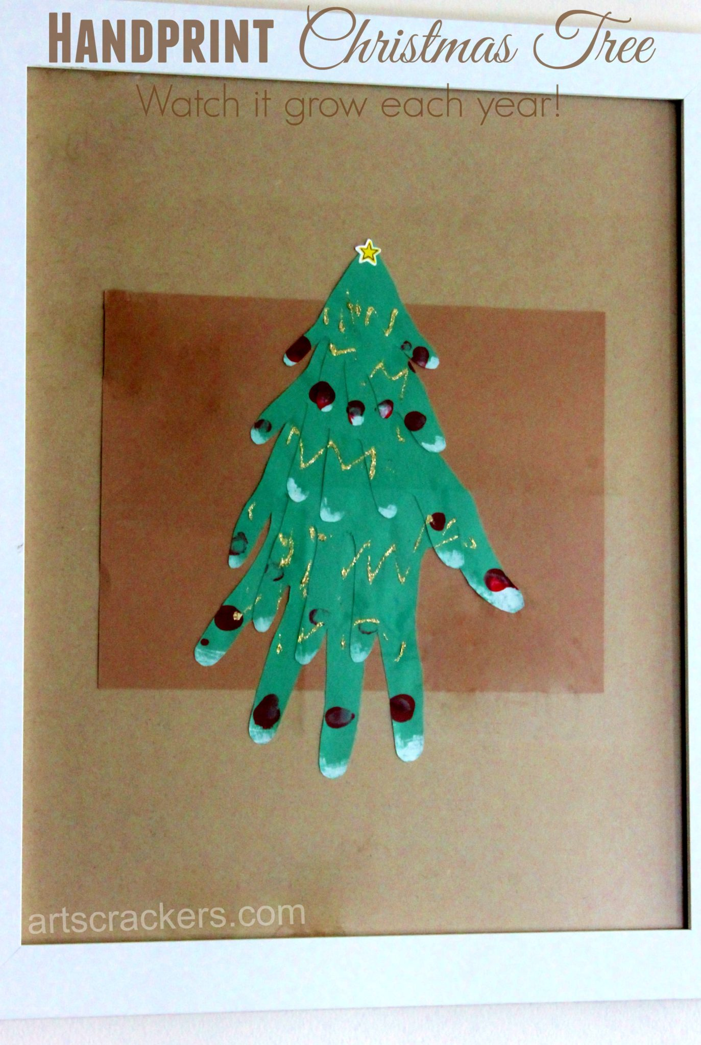 Handprint Christmas Tree Wall Decoration