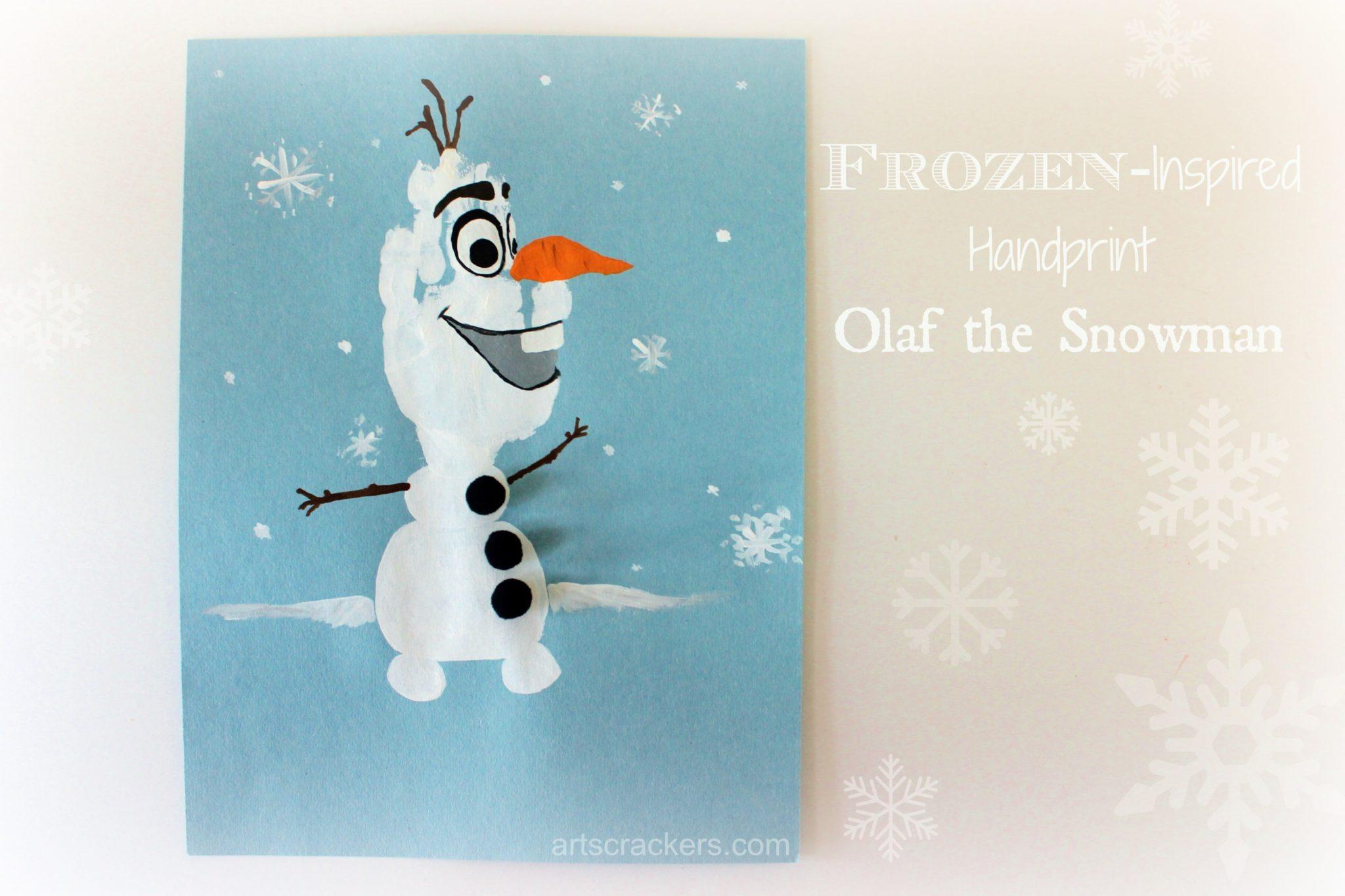 Frozen Inspired Olaf Handprint Craft