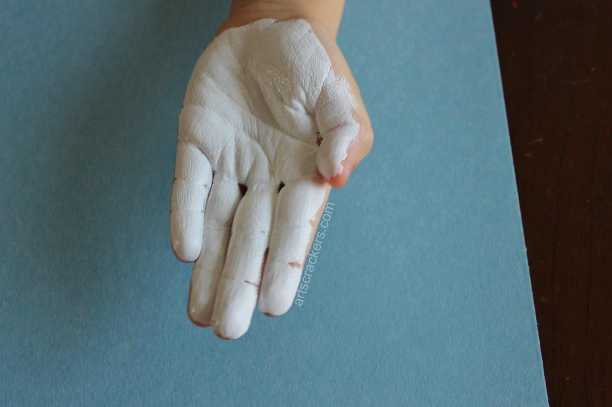 Olaf Handprint Snowman Painted Palms