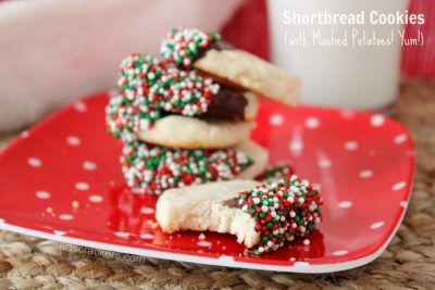 Shortbread Cookies with Buttery Idahoan Mashed Potatoes