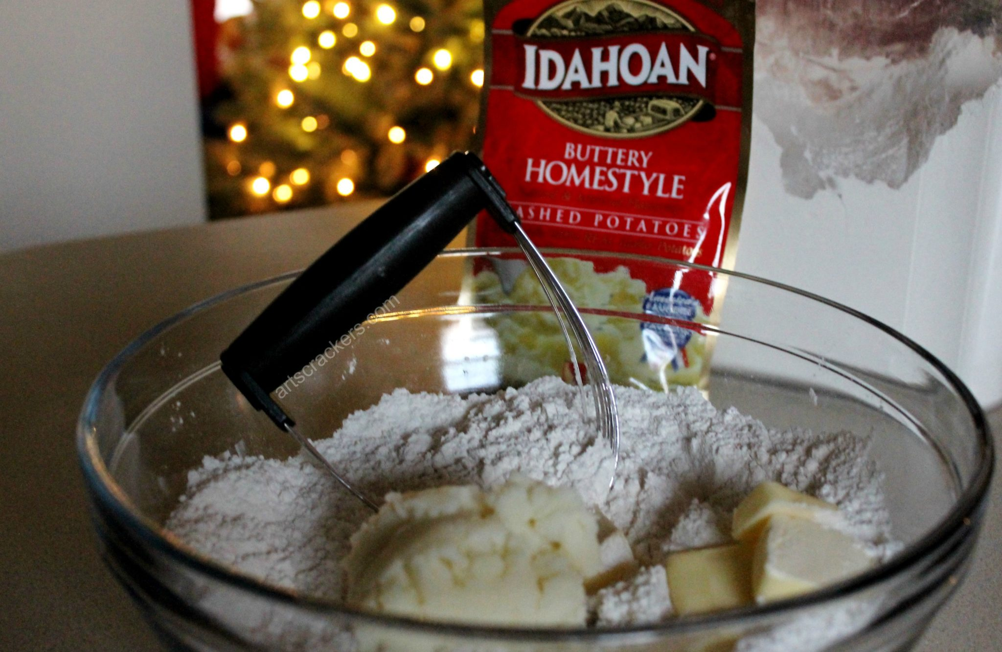 Shortbread Cookies with Idahoan Mashed Potatoes Wet Ingredients