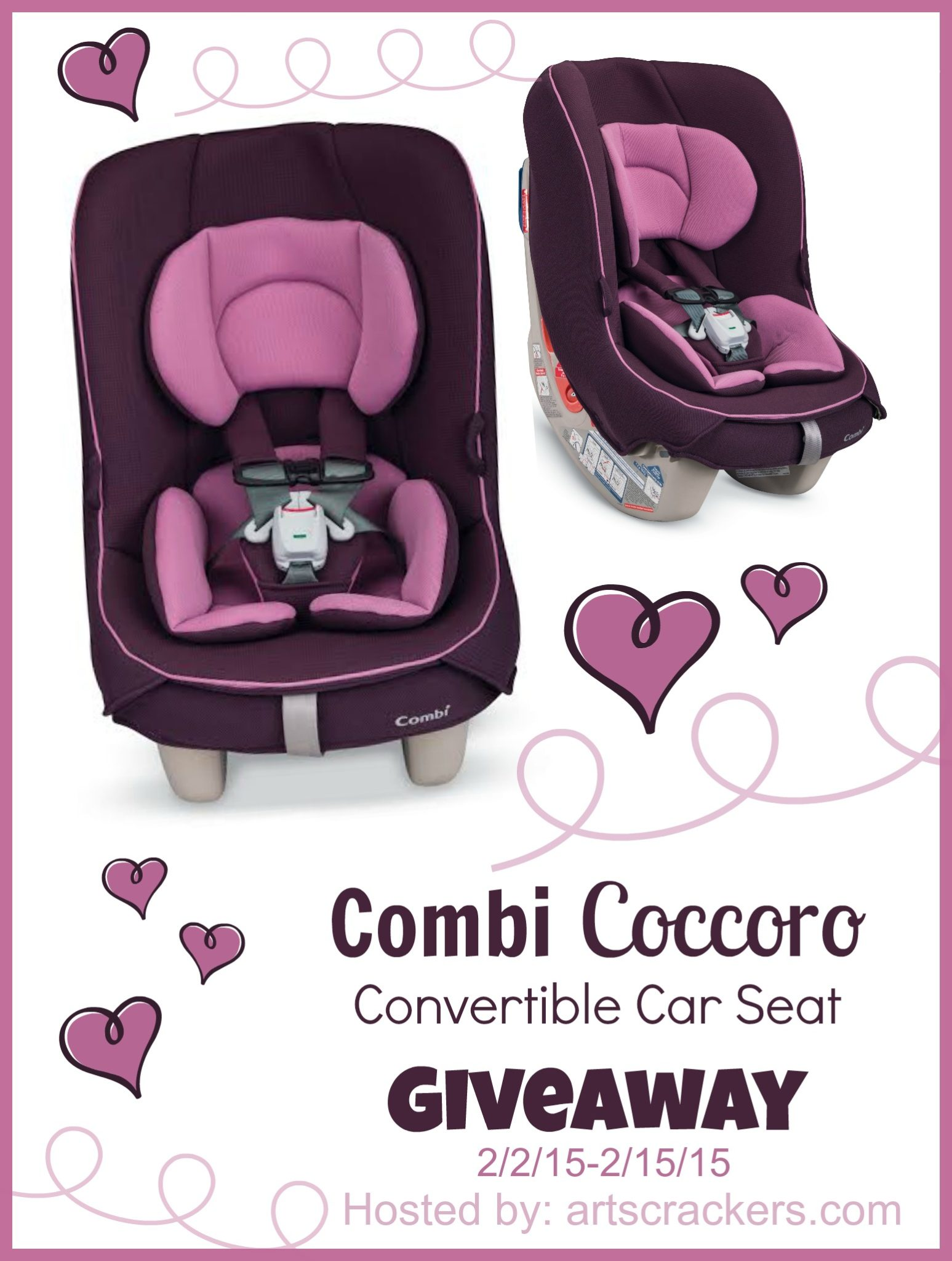combi coccoro convertible car seat giveaway arts crackers. Black Bedroom Furniture Sets. Home Design Ideas