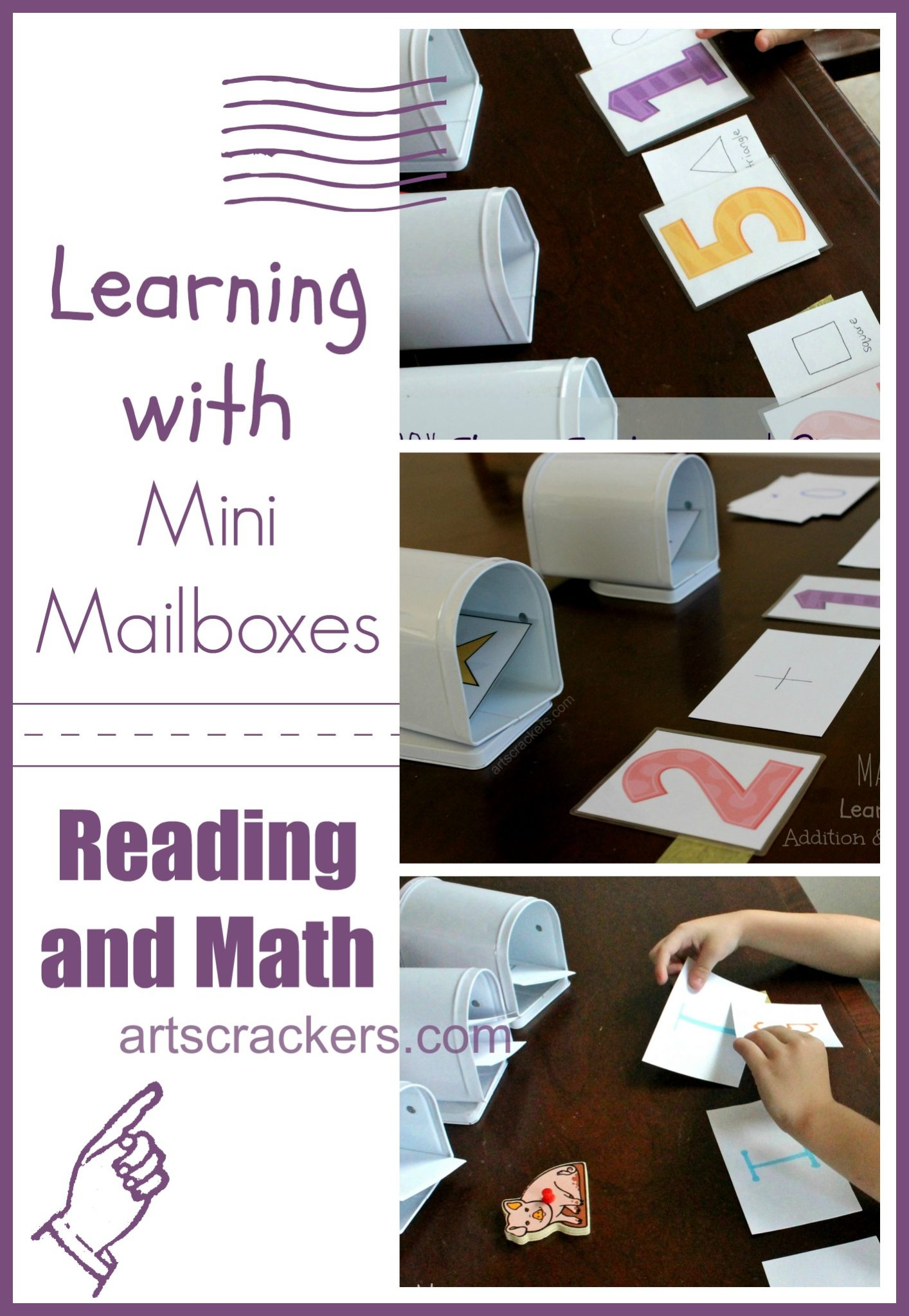 Learning with Mini Mailboxes-Reading and Math. Click the picture to see videos and instructions.