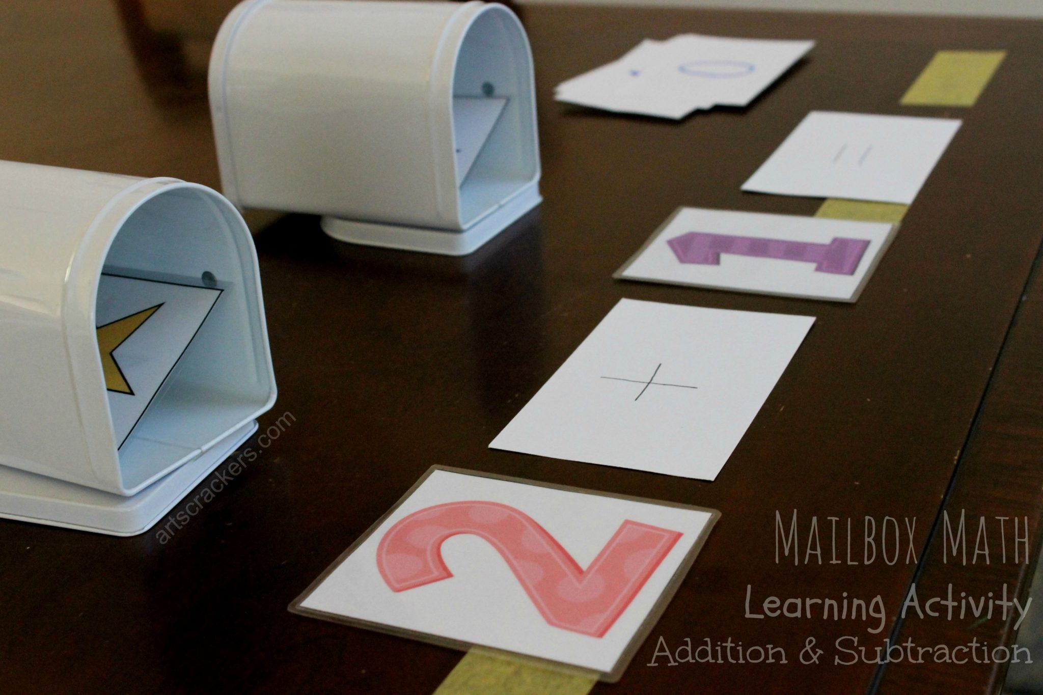 Mailbox Math Learning Activity Addition and Subtraction. Click the picture to view the instructions.
