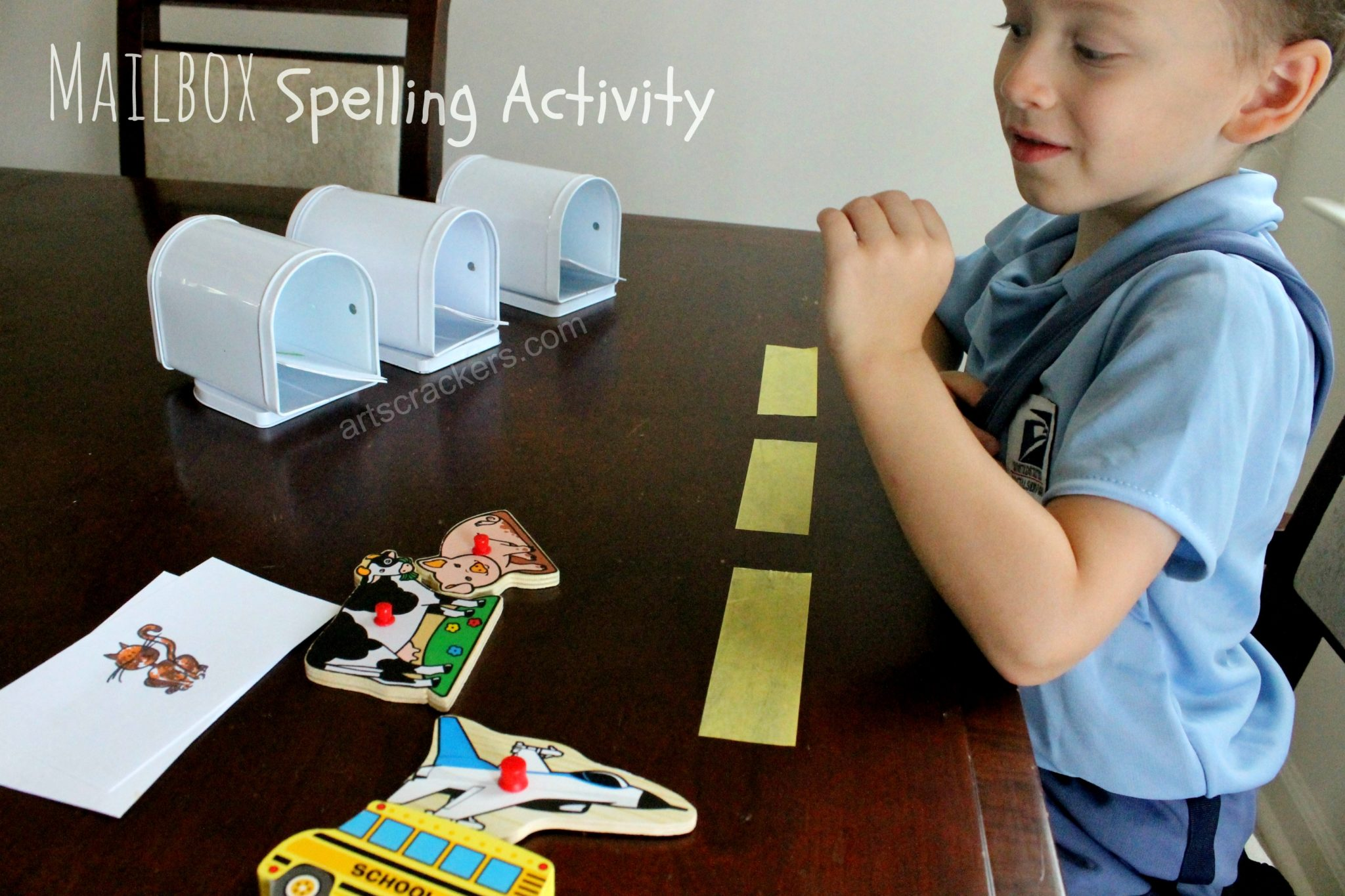 Mailbox Spelling Activity. Click the picture to view the instructions.