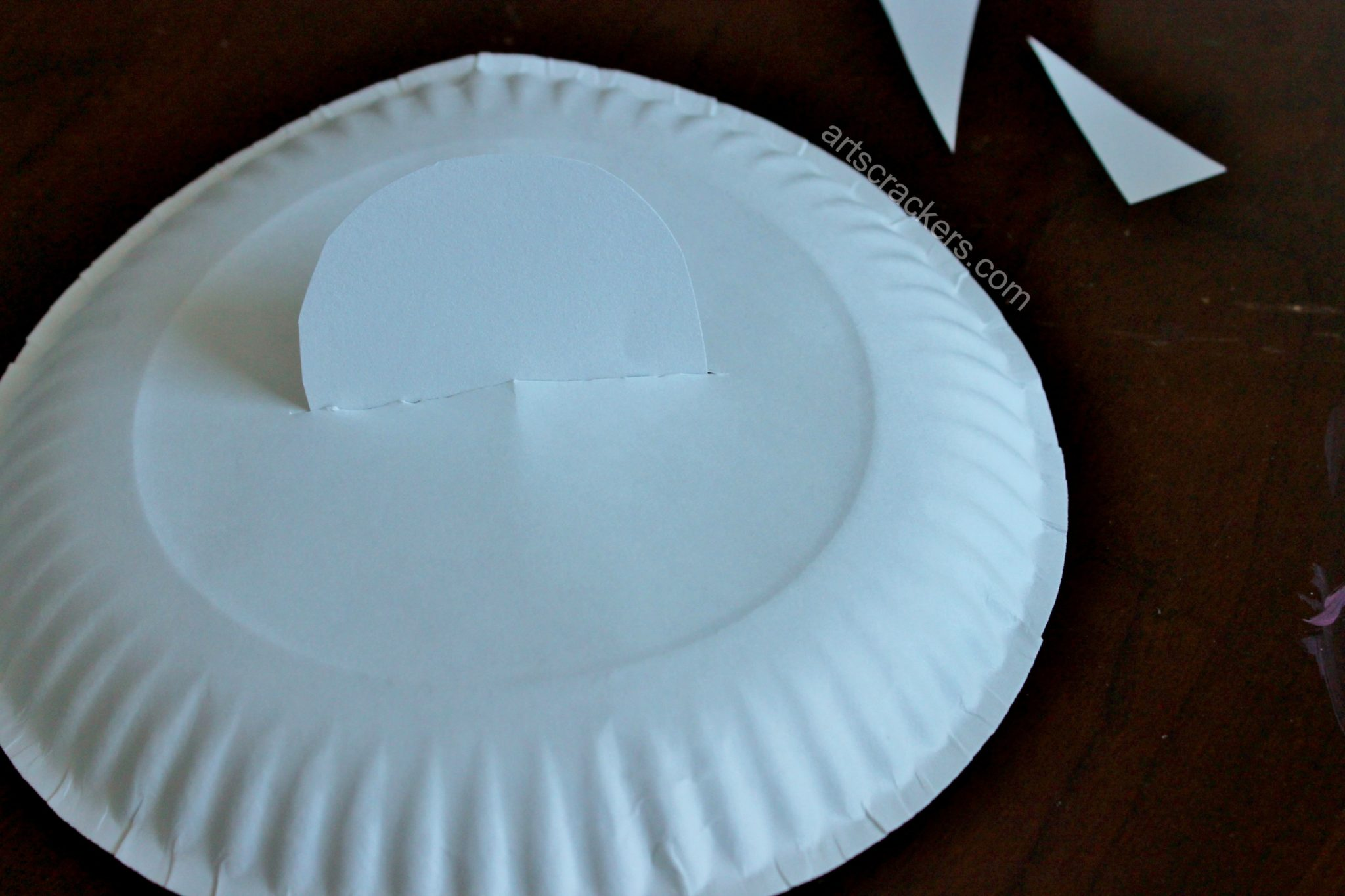 Paper Plate Flying Saucer Step 2