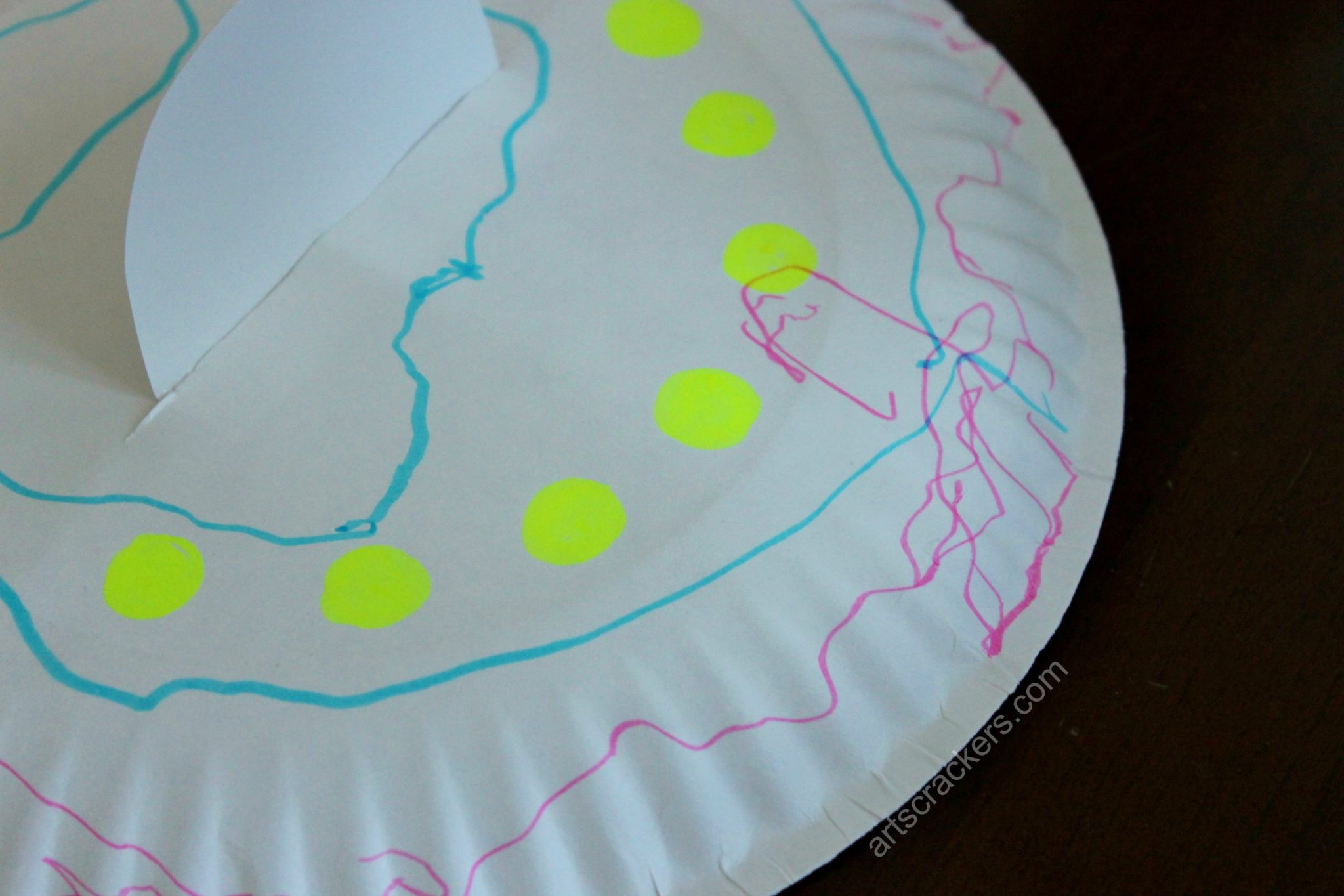 Paper Plate Flying Saucer Step 5